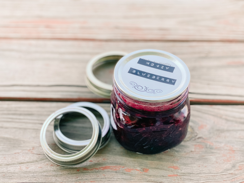 blueberry low sugar jam honey