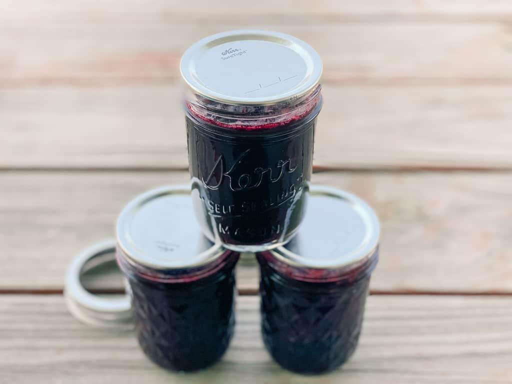 blueberry honey jam mason jar canning