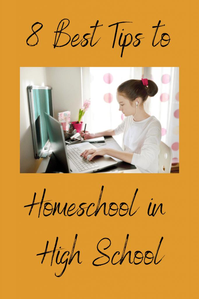 homeschool high school desk laptop learn