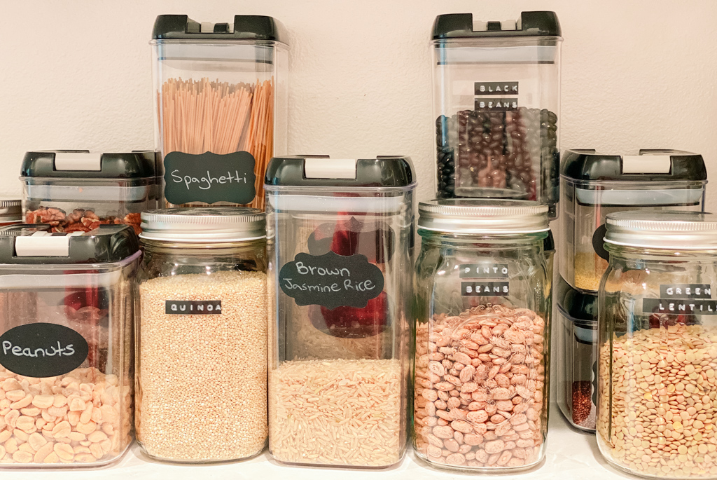 food storage containers pinto beans black beans quinoa lentils mason jar stay stocked up on essentials