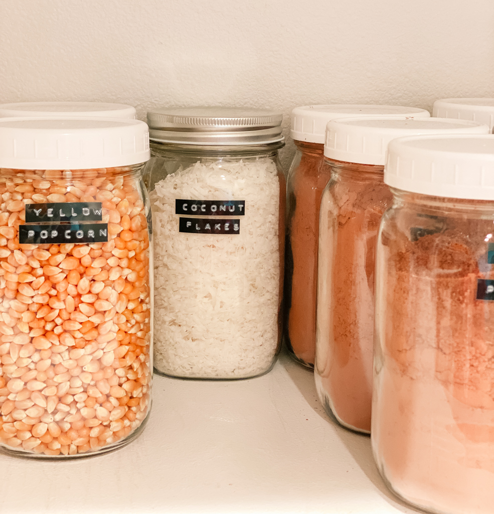 mason jars pantry organization