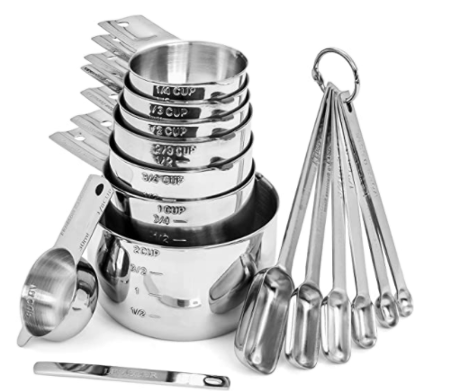 stainless steel measuring cups spoons set homesteading gift ideas