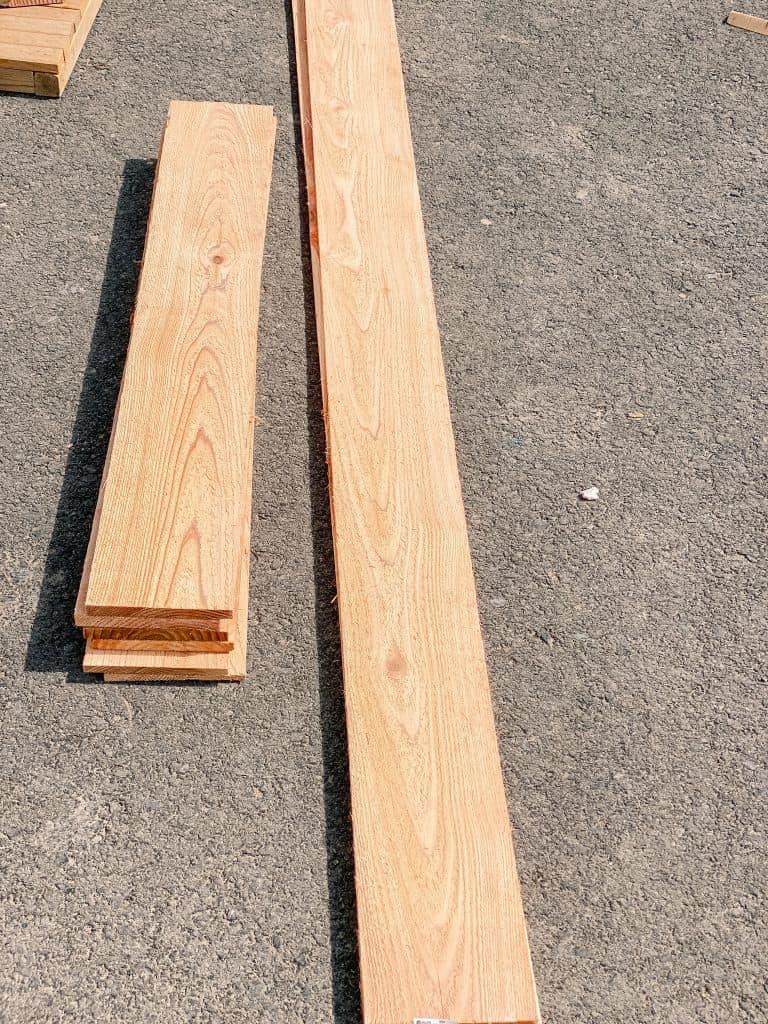 cedar fence plank