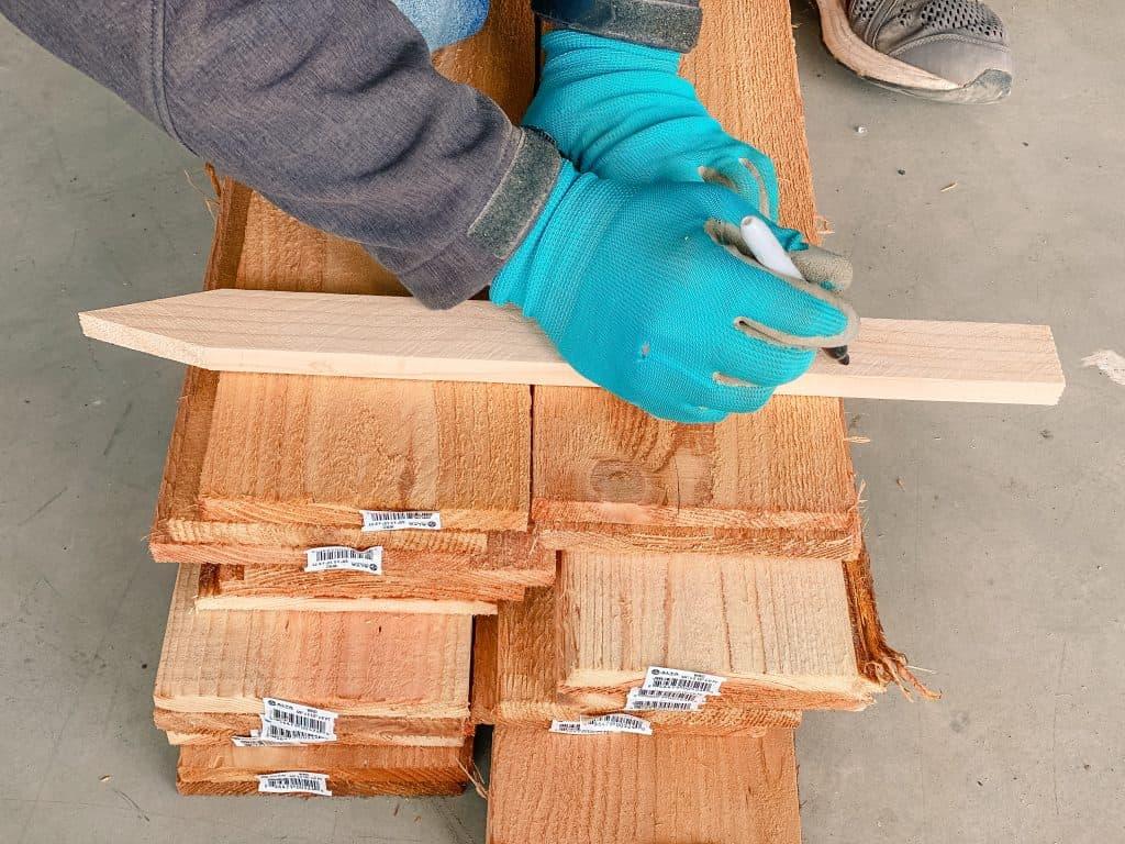 pine wood stakes