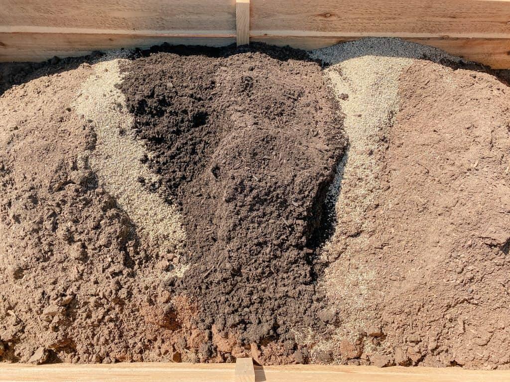 soil mix mulch topsoil garden bed container gardening