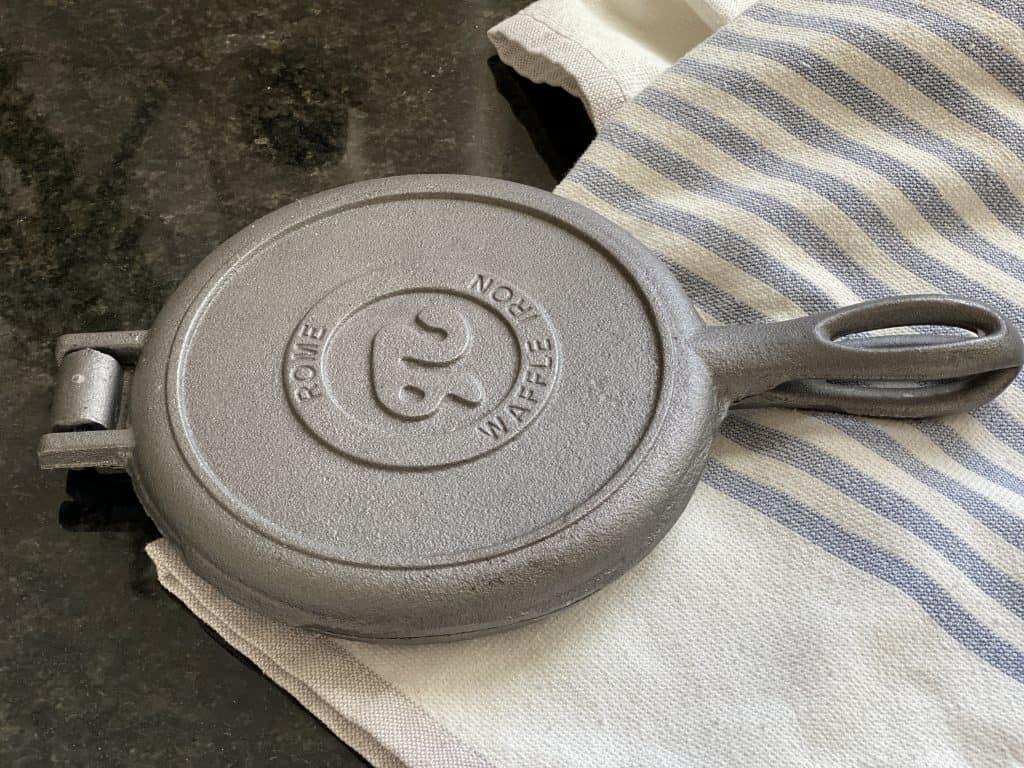 cast iron waffle maker rome waffle iron