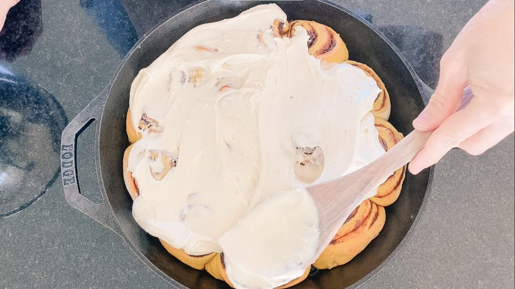 pumpkin sourdough cinnamon rolls glaze maple cream cheese